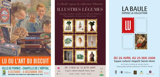 Affiches d'exposition Lu, Vilmorin