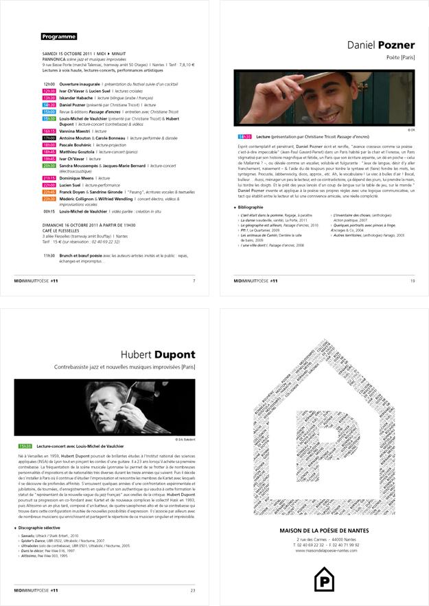 Programme MidiMinuitPoésie 2011