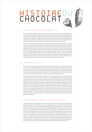 Rédactionnel exposition Chocolat