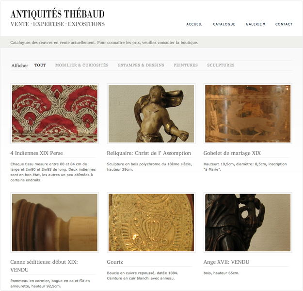 site cms antiquités thebaud page 2